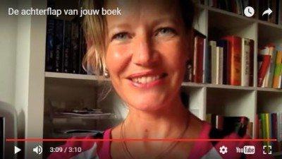 De achterflap van jouw boek