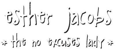 Esther Jacobs – the NO EXCUSES LADY: speaker, author, dagvoorzitter, digital nomad Logo